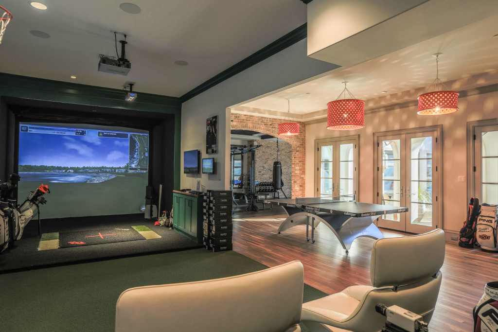 Home gym design services beautiful habitat Living room gym