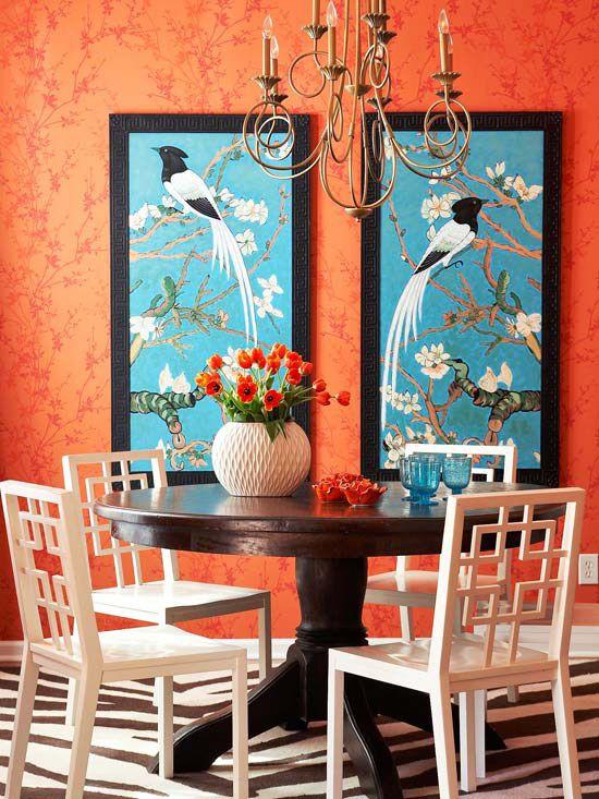 Interior Decorator Denver Via Bhg Orange And Blue Decor