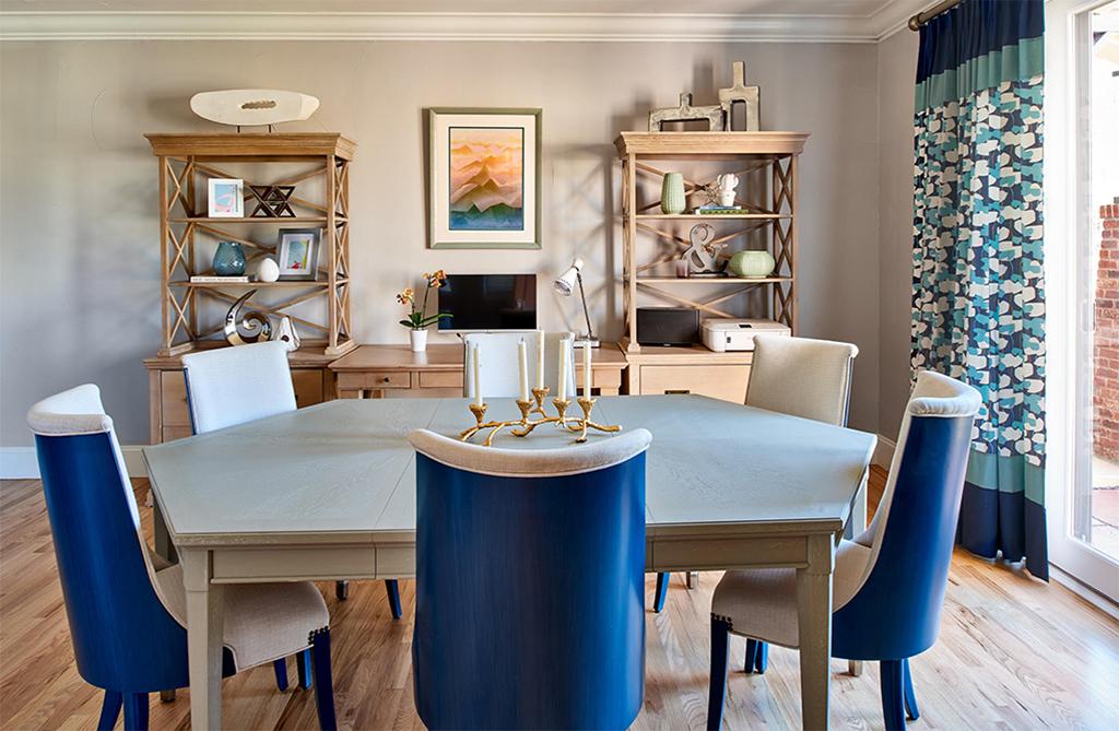 dining room blue
