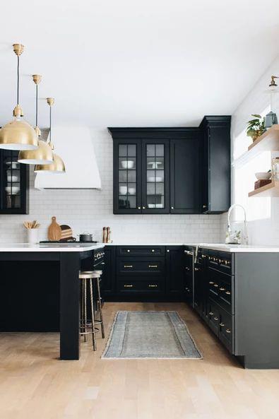 Black Kitchen Cabinets, Kitchen Design Denver CO