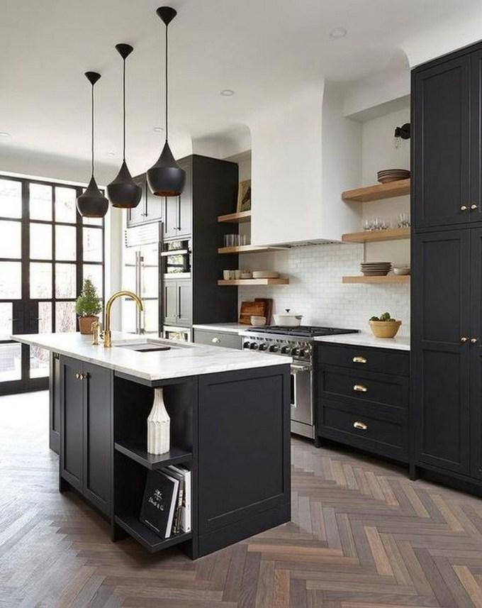 Black Kitchen Cabinets, Interior Design Colorado