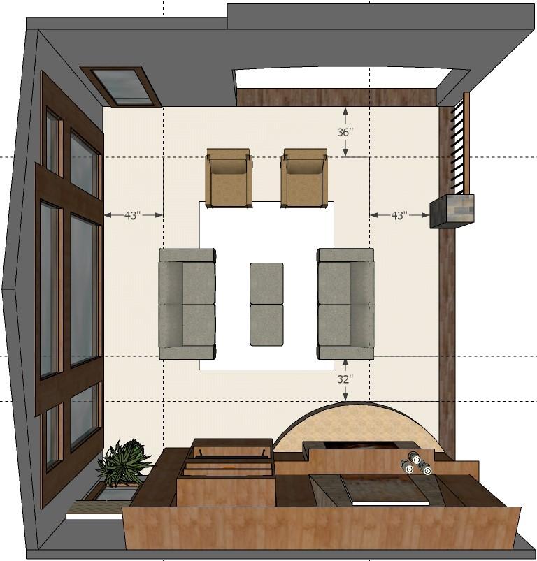 Blueprint for living room
